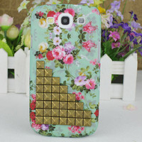 Bronze Stud The Prettiest Flower Hard Case Cover for Samsung Galaxy S3 i9300
