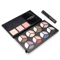 Professional Makeup 24 Colors Eye Shadow & 3 Colors Blush Palette & Mascara Set