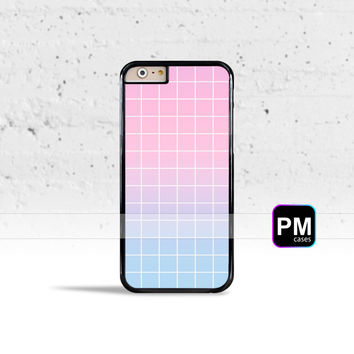 Pastel Grid Aesthetics Case Cover for Apple iPhone 7 6s 6 SE 5s 5 5c 4s 4 Plus & iPod Touch