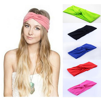 20 Color Twist Elastic Turban Headband For Women Headbands Headwrap Hairband Headwear Bandana Hair Accessories Gifts