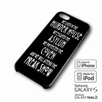 American horror story asylum Cover iPhone case 4/4s, 5S, 5C, 6, 6 +, Samsung Galaxy case S3, S4, S5, Galaxy Note Case 2,3,4, iPod Touch case 4th, 5th, HTC One Case M7/M8