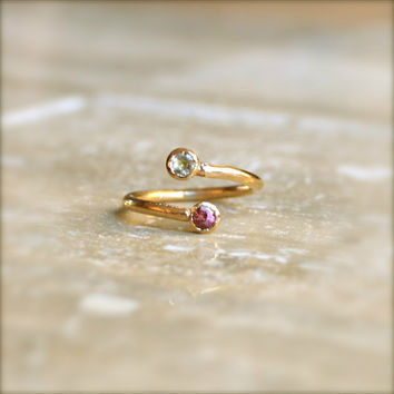 Gold Birthstone Ring