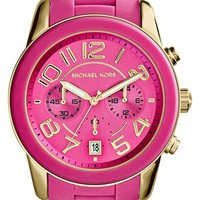 Michael Kors 'Mercer' Chronograph Silicone Strap Watch, 42mm