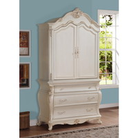 Meridian Pearl White Marquee Armoire | Overstock.com Shopping - The Best Deals on Armoires