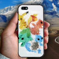 Pikachu Painting Pokemon - Print on hard plastic case for iPhone case. Select an option