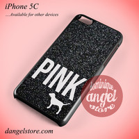 Black Glitter Victoria's Secret Phone case for iPhone 5C and another iPhone devices