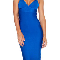 """Paris"" Midi Bandage Dress - Blue"