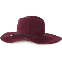 Emilio Pucci - Braided leather-trimmed suede fedora