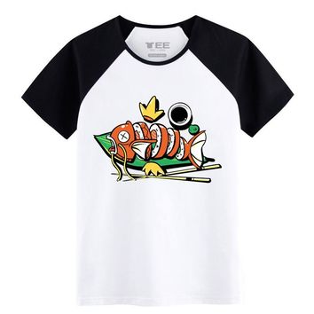 mens t-shirts casual wear Pokemon Magikarp sushi Funny pattern  Tshirts Spring&Summer Wear