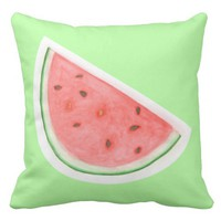 Watercolour Watermelon Pillow