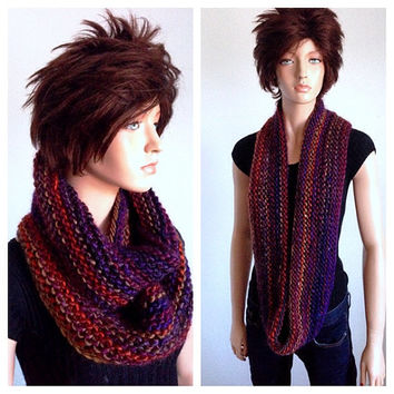 Isaac Mizrahi Hand Knitted Infinity Scarf in Fashion