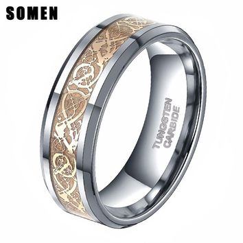 Men's Gold Celtic Dragon Ring