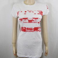 Jay-Z Blueprint 3 T-Shirt Tee Womens Ladies XL White  Red