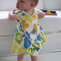 Baby and Toddler Pinafore Dress Sewing Pattern, PDF Tutorial (sizes 6m, 12m, 18m, 2-3T) EMMA Dress