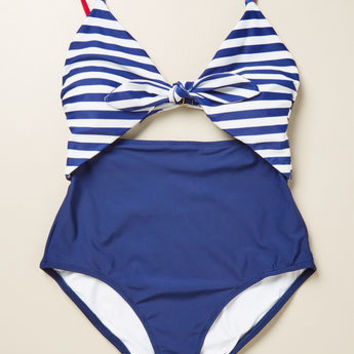 Daylight Dip One-Piece Swimsuit in Nautical