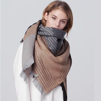 Cashmere Scarf Winter Geometric Irregular Sponge [9184246148]