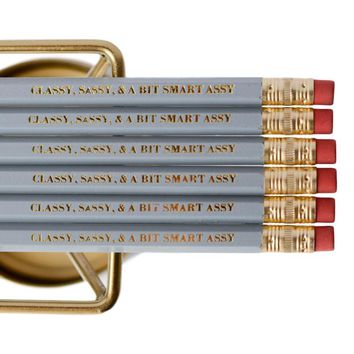 CLASSY, SASSY AND A BIT SMART ASSY PENCIL SET