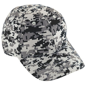 Augusta 6208 Camo Cotton Twill Cap - Black Camo