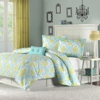 Katelyn Comforter Set in Teal