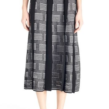 KENZO 'NY Stripes' Silk & Cotton Jacquard Knit Skirt | Nordstrom
