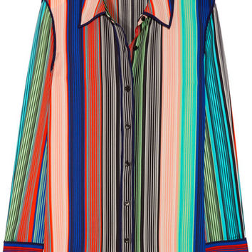 Diane von Furstenberg - Striped silk-blend shirt