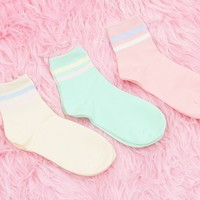 Pastel Striped Socks