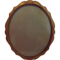 Italian Wood Ormolu Picture Frame with Glass Vintage Home Decor