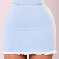 Lainey Denim Skirt - Light