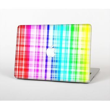 The Bright Rainbow Plaid Pattern Skin for the Apple MacBook Air 13""