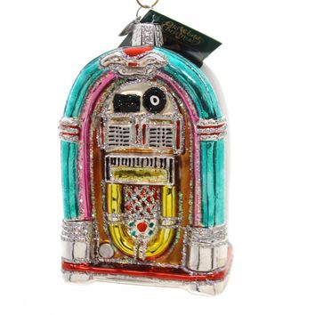 Old World Christmas Jivin' Jukebox Glass Ornament