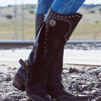 Double D Ranch Rusty Ravine Boots by Old Gringo ~ Chocolate