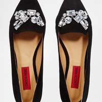 London Rebel Embellished Point Flat Shoes