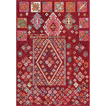 nuLoom Tyesha Tribal Diamonds Area Rug