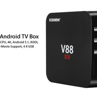 SCISHION V88 Android TV Box  - RK3229 CPU, 4K, Android 5.1,  KODI,  WIFI,  3D Movie Support, 4 X USB, SD Card Slot