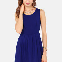 Aryn K Ready to Rendezvous Cutout Blue Dress