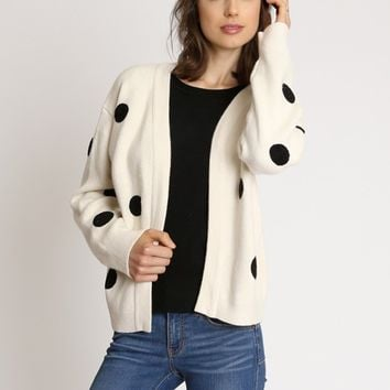 Art District Polka Dot Cardigan | Ruche