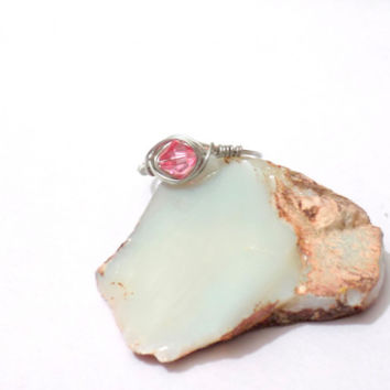 Pink wrap wire ring