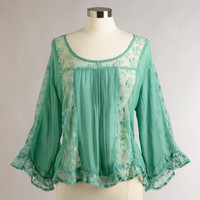 MINT GREEN LACE AVA TOP