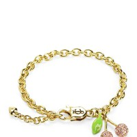 Gold Pave Cherry Charm Bracelet by Juicy Couture, O/S
