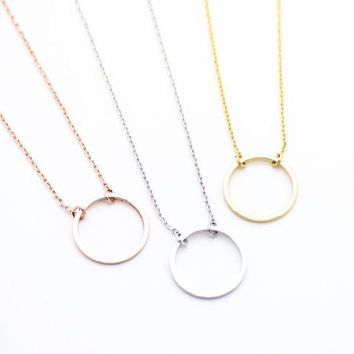 ac spbest Circle eternity necklace