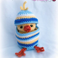 Easter-Buddies Chick; CROCHET PATTERN; PDF