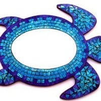 Mosaic Sea Turtle Mirror Wall Hanging