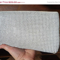 ON SALE White Metal Mesh Evening Purse - Vintage White Mesh Purse - Vintage handbag