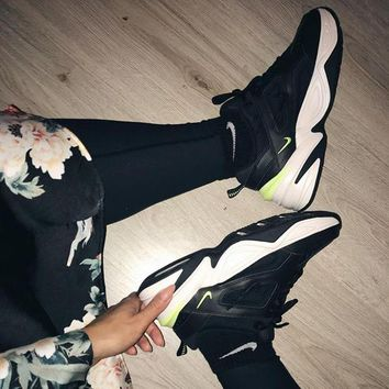 Nike Air Monarch 4 M2K Tekno Retro old Sneakers Women's Shoes Running Black green
