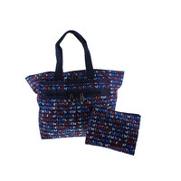 Brighton Womens Lock-It Printed Logo Tote Handbag