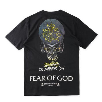 auguau Mens Vintage Rock T shirt Fear Of God Heavy Metal