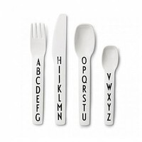 Design Letters Arne Jacobsen Kids Cutlery Set : Huset Shop
