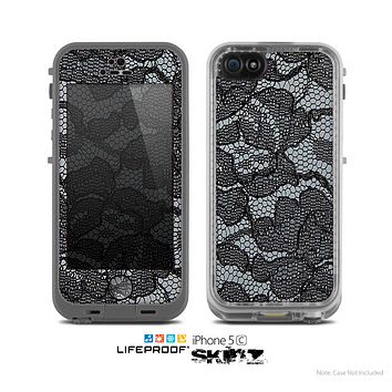The Black Lace texture Skin for the Apple iPhone 5c LifeProof Case