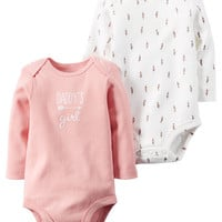 2-Pack Long-Sleeve Bodysuits