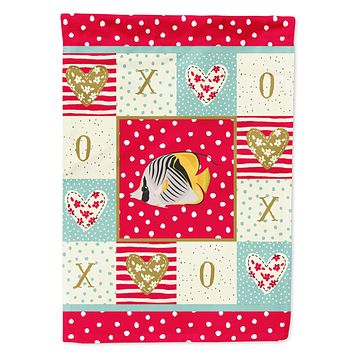 Butterfly Fish Love Flag Canvas House Size CK5466CHF
